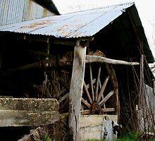 old water wheel  by Donovan wilson