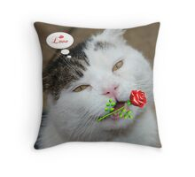 Butch Valentines Throw Pillow