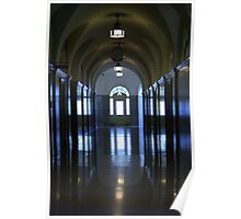 Reflected Hall Poster