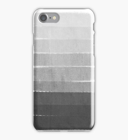 Brushstroke - Ombre Grey, Charcoal, minimal, Monochrome, black and white, trendy,  painterly art  iPhone Case/Skin