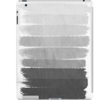 Brushstroke - Ombre Grey, Charcoal, minimal, Monochrome, black and white, trendy,  painterly art  iPad Case/Skin