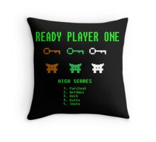 Ready Player One 8-Bit Game High Five Throw Pillow