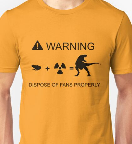 Warning recycle responsibly Unisex T-Shirt