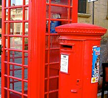 red letter box and phone box by Francesca Rizzo