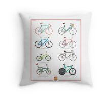 Bicycle Season Throw Pillow