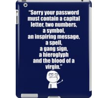 Username and Password iPad Case/Skin