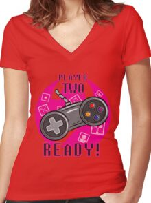 Player Two Women's Fitted V-Neck T-Shirt
