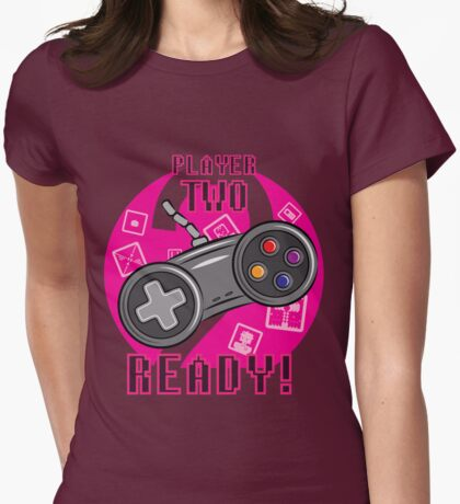 Player Two Womens Fitted T-Shirt