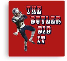 The Butler Did It - New England Patriots Malcolm Butler 21 Canvas Print