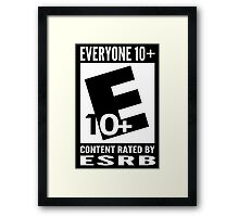 Everyone Rating Framed Print