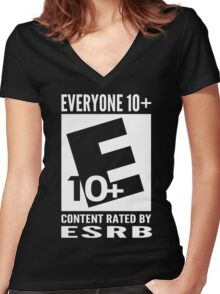 Everyone Rating Women's Fitted V-Neck T-Shirt