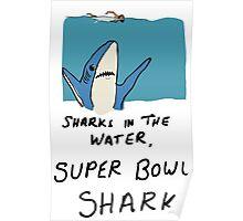 Super Bowl Shark Poster