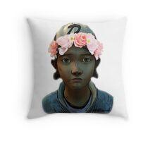 Clementine Flower Crown Throw Pillow