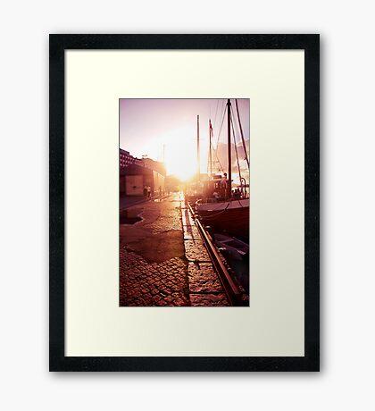 Sidewalk Singalong Framed Print