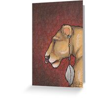 Lioness Adorned Greeting Card