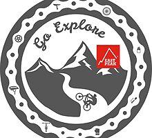 This Bike Got Wings - East Peak Apparel - Go Explore by springwoodbooks
