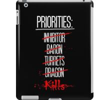 Priorities iPad Case/Skin