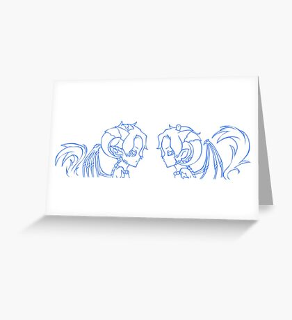 Ace and Ace AU: Blue Greeting Card