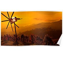 Sunset in Kitzeck Poster