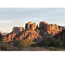 Cathedral Rock At Sunset Photographic Print