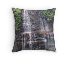 Fall Creek Waterfall Zoom Throw Pillow