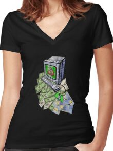 Just Numbers In Computers Women's Fitted V-Neck T-Shirt