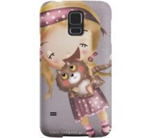 girl moves cats Samsung Galaxy Case/Skin