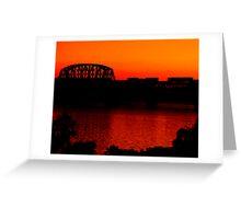 Sunset Train Ride Greeting Card