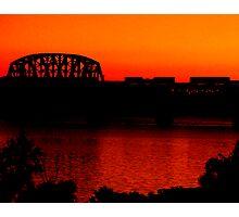 Sunset Train Ride Photographic Print