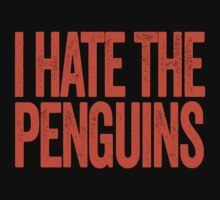 I Hate The Penguins - Philadelphia Flyers T-Shirt - Show Your Team Spirit - Orange Text Design - Haters Gonna Hate by BeefShirts