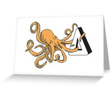 How am I gonna be an octopus about this - Orange Greeting Card