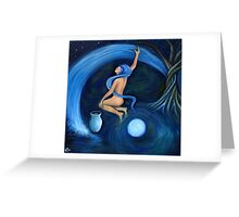 Drawing Down the Moon Greeting Card