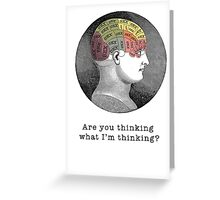 Funny Mind-reading Romantic Vintage Graphic Greeting Card