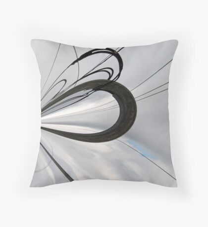 Overcast Abstract Throw Pillow