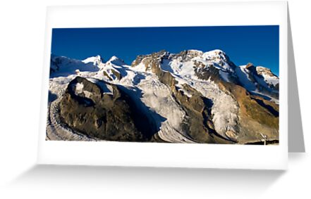 Breithorn with deep blue sky by peterwey