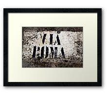 via roma Framed Print