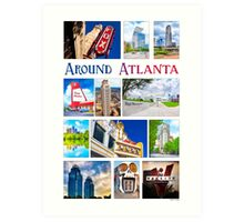 Scenes From Around Atlanta Montage Art Print