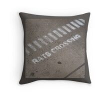 Rats Crossing Throw Pillow