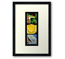 Reptile Triple Framed Print