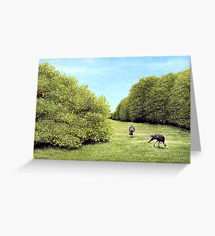 Turkeys in the Grove Greeting Card