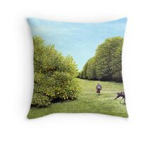 Turkeys in the Grove Throw Pillow