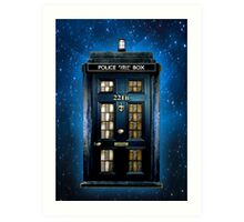 Space Traveller Box with 221b number Art Print