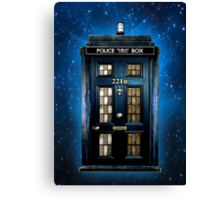 Space Traveller Box with 221b number Canvas Print