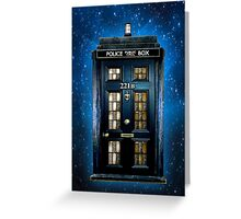 Space Traveller Box with 221b number Greeting Card