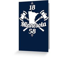 Minnesota 1858 Greeting Card