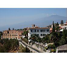 Etna from taormina Photographic Print