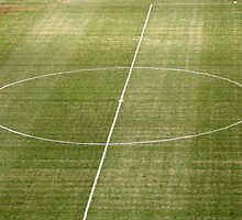empty football pitch by keki