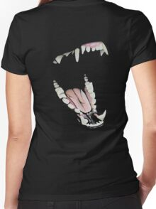 Wolf Teeth Women's Fitted V-Neck T-Shirt