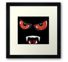 Evil face with red eyes Framed Print
