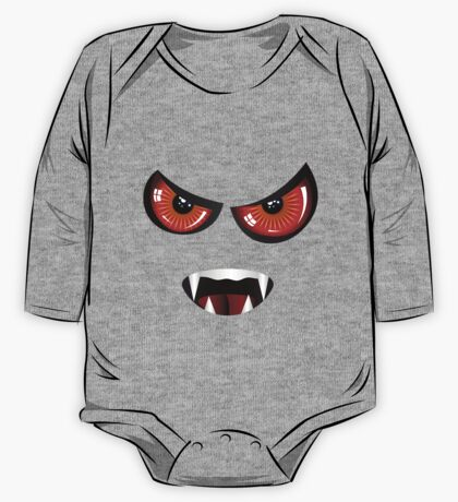 Evil face with red eyes One Piece - Long Sleeve